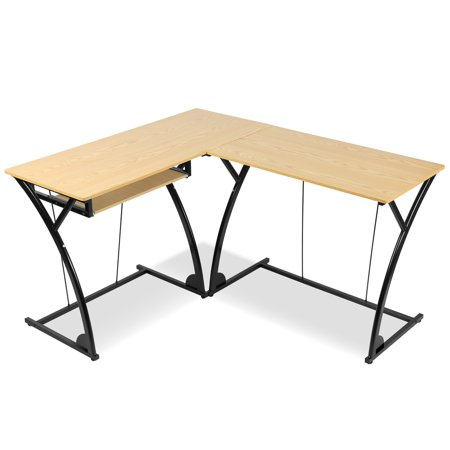 L-Shaped Computer PC Laptop Table Gaming Workstation Home Office Corner Desk L-shaped Office Table