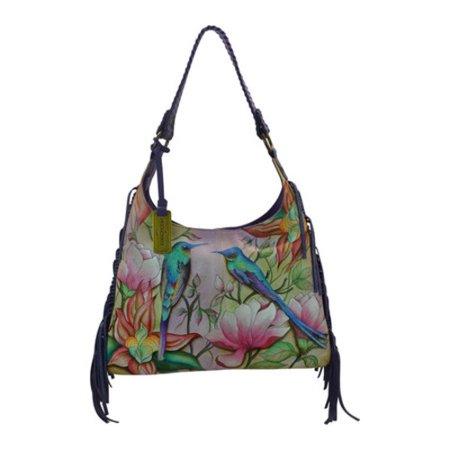 Anuschka Fringe Shoulder Hobo Bag 8bcc2e4032b55