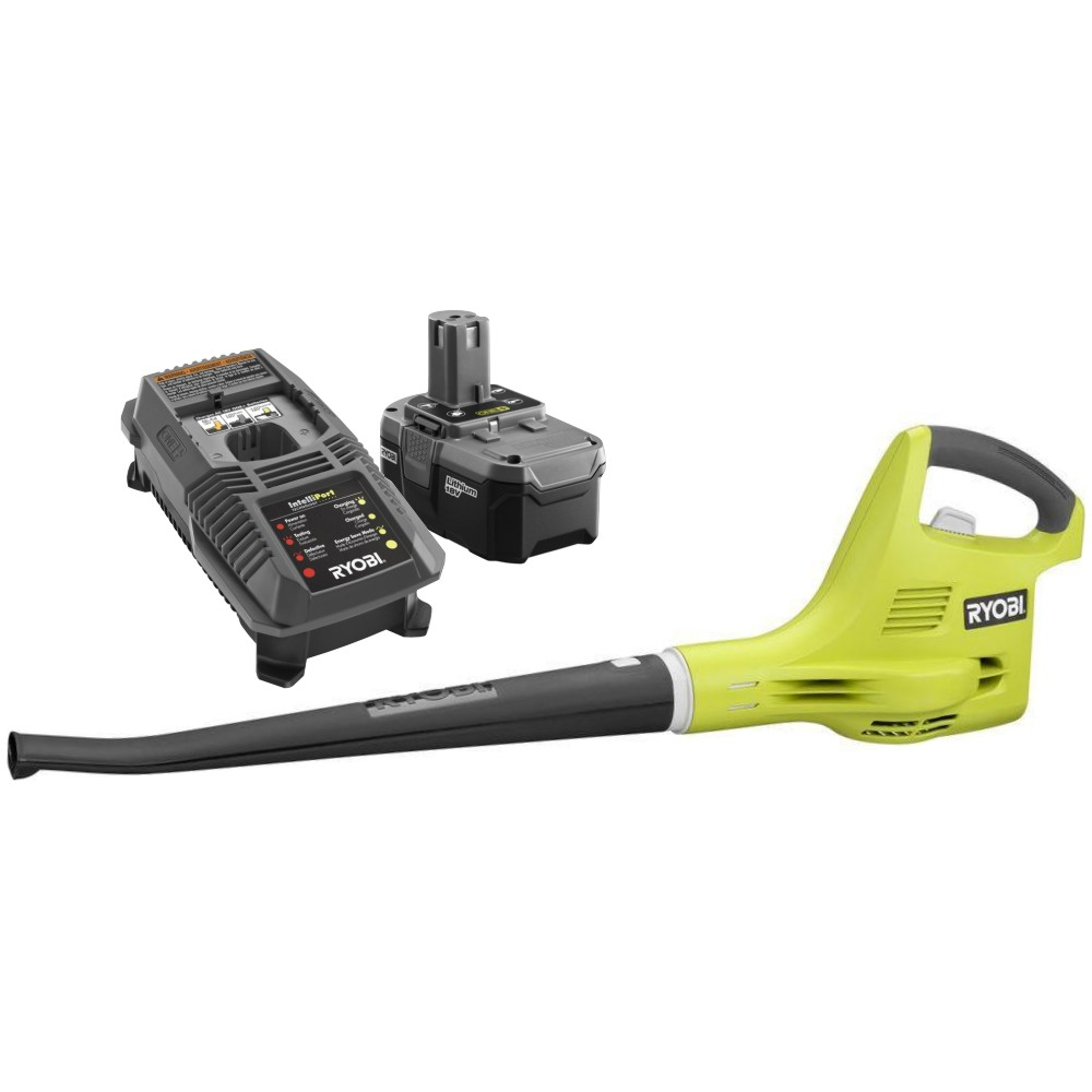 Ryobi P21021 ONE+ 18-Volt Lithium-ion Cordless Blower/Sweeper Kit ZRP21021 Blower P102 Battery P118 Charger Reconditioned