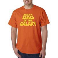 Trendy USA 715 - Unisex T-Shirt Best Dad in The Galaxy Star Wars Opening Crawl XL Navy