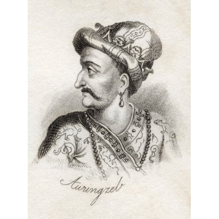 Al-Sultan Al-Azam Wal Khaqan Al-Mukarram Abdul Muzaffar Muhiuddin Muhammad Aurangzeb Bahadur Alamgir I Padshah Ghazi 1618 - 1707 Emperor Of The Mughal Empire From The Book Crabbs Historical Dictionary