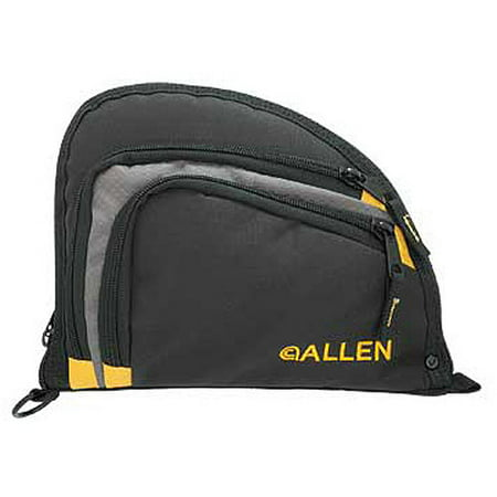 "Allen Auto-Fit Single Handgun Case, 9.5"" x 7.25"", Black/Yellow thumbnail"