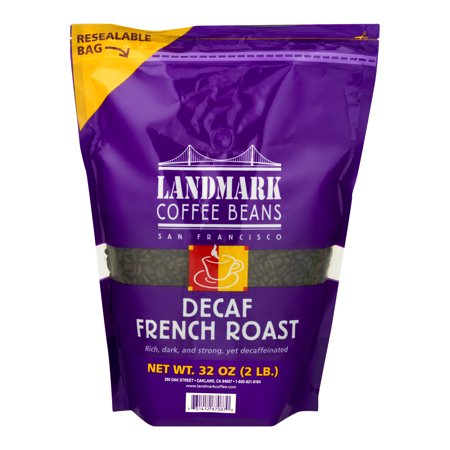 Land Mark Coffee Beans Decaf French Roast, 32.0
