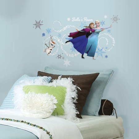 Frozen Custom Headboard Featuring Elsa, Anna and Olaf Peel and Stick Giant Wall Decals