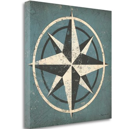 Nautical Compass Blue by Ryan Fowler - image 2 of 2