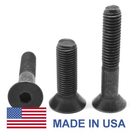 M8 x 1.25 x 25 Coarse Thread Socket Flat Head Cap Screw - USA Alloy Steel Thermal Black Oxide Pk 100