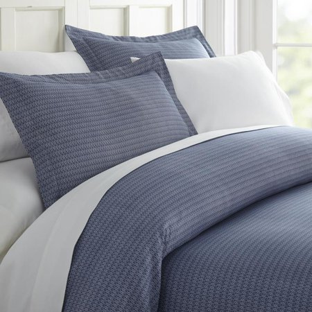 Noble Linens Premium Ultra Soft Blue Diamond Pattern 3 Piece Duvet Cover Set ()