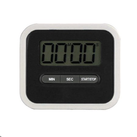 Mosunx LCD Digital Cooking Kitchen Timer Count-Down Up Clock Loud Alarm Black (Halloween Countdown Clock Widget)