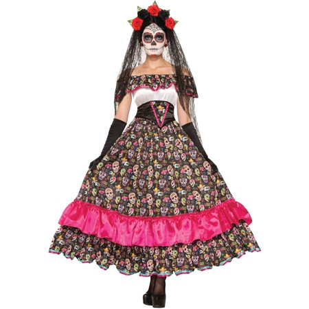 Day of the Dead Spanish Lady Adult Halloween Costume for $<!---->