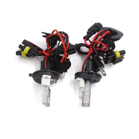 2 pcs bi-xenon hi lo beam hid white bulb light lamp h4 6000k for auto