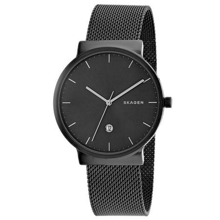 Skagen Titanium Watch - Men's Ancher SKW6432 Black Stainless-Steel Japanese Quartz Fashion Watch