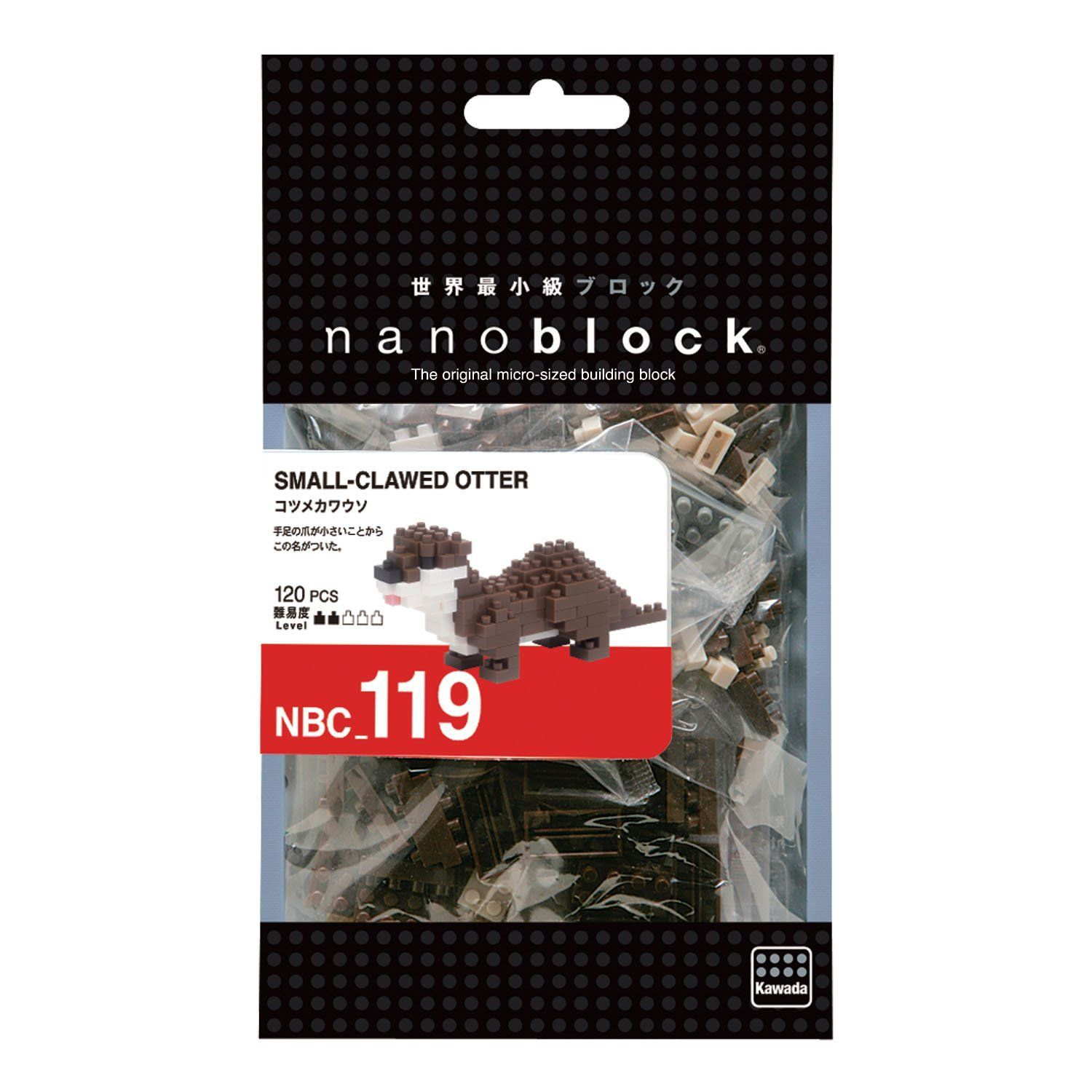 Small-Clawed Otter Mini Building Sets by Nanoblock (NBC119) by nanoblock