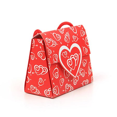 df9f385aa8 Valentine Gift Bag with Handle Purse Shaped 4*5*4.25in, 1Pc,1 ...