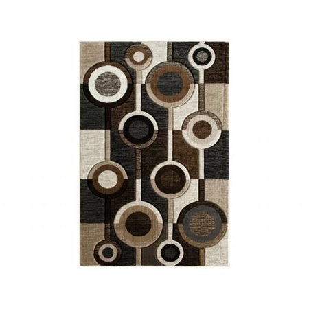 Central Oriental 5588.51.55 Apex Alburnett 100 Percent Heat Set Polypropylene Rug, Brown - 5 ft. x 7 ft. 3 (100% Heat Set)
