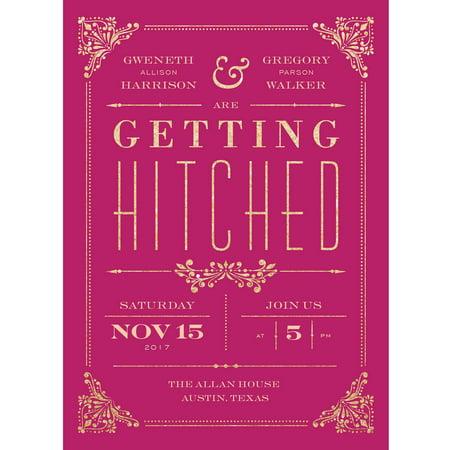 Gilded Union Standard Wedding Invitation - Red Carpet Invitations