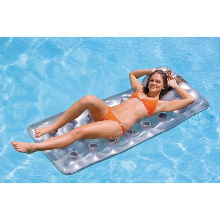 Intex 18-Pocket Mattress Suntanner Pool Lounger w/ Headrest (2 Pack) | 58894EP - image 1 de 5