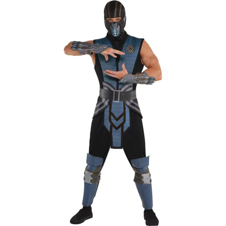 Mortal Kombat Sub-Zero Costume for Adults, Standard Size, With Jumpsuit and More - Mortal Kombat Costumes