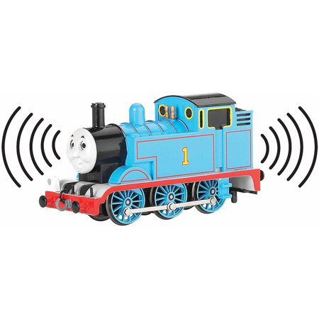 Bachmann Trains Thomas and Friends Thomas The Tank Engine Locomotive with Analog Sound and Moving Eyes, HO Scale Train - Train Whistle Sounds