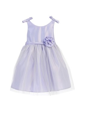 082322c75ac Product Image Sweet Kids Baby Girls Lilac Rosette Accent Flower Girl Dress 6 -24M