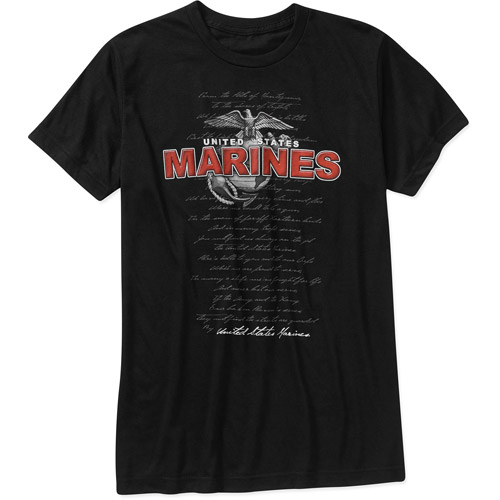 HighVis Design Marines Select Comfort Wear Big Men's Graphic Tee