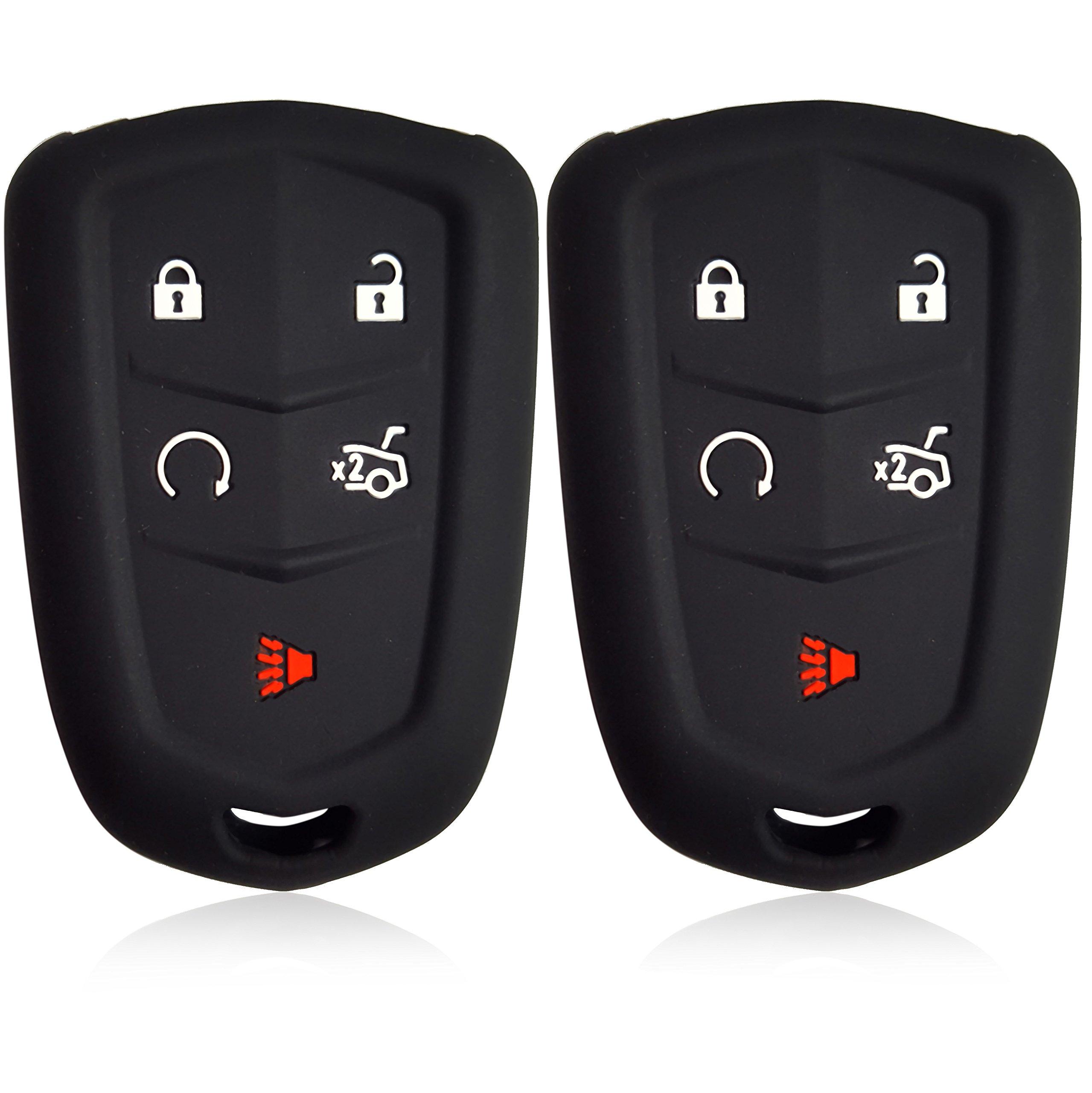 2pcs Dobrev 5 Buttons Silicone Case Protector Key Fob