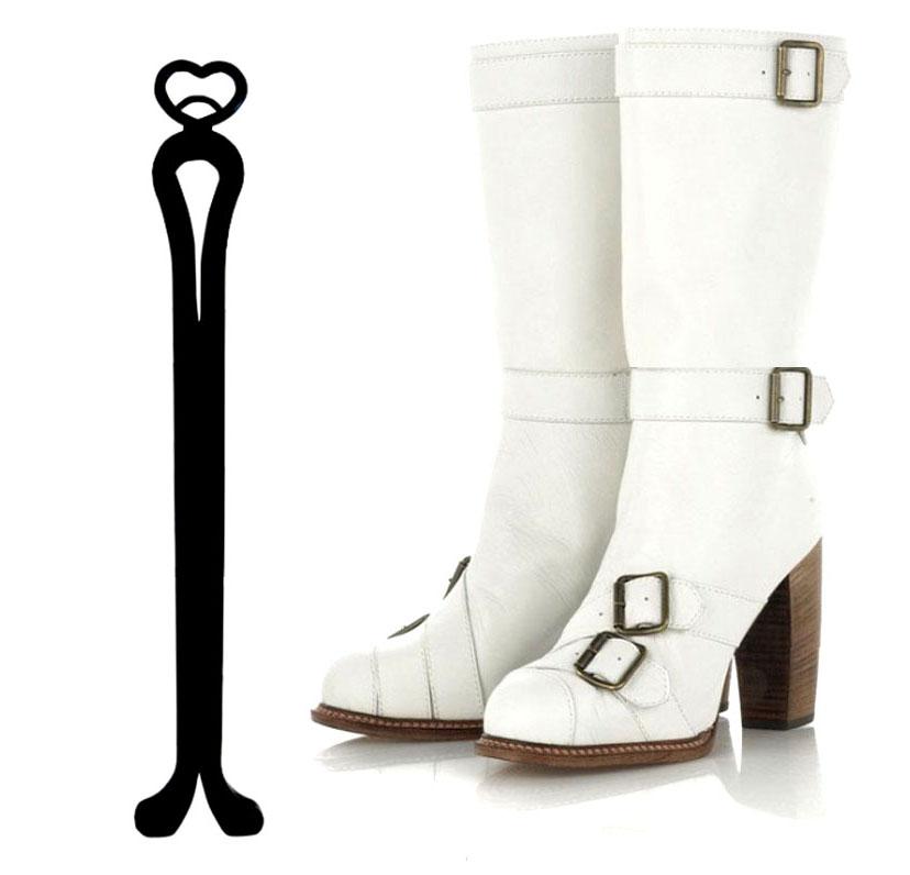 style high heel platform winter knee boots size