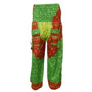 Mogul Women's Harem Pant Mandala Print Palazzo Trousers Yogini Pants