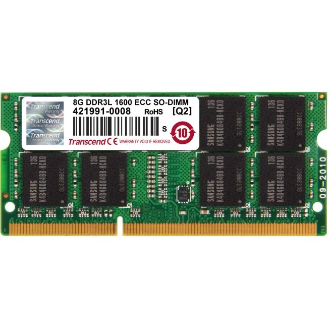 8GB DDR3L 1600 ECC-SODIMM 2RX8