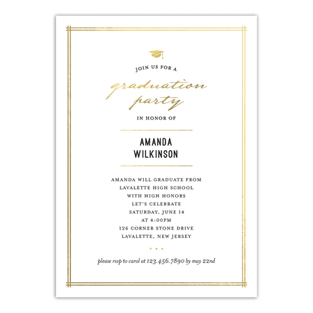 elegant grad graduation invitation walmart com