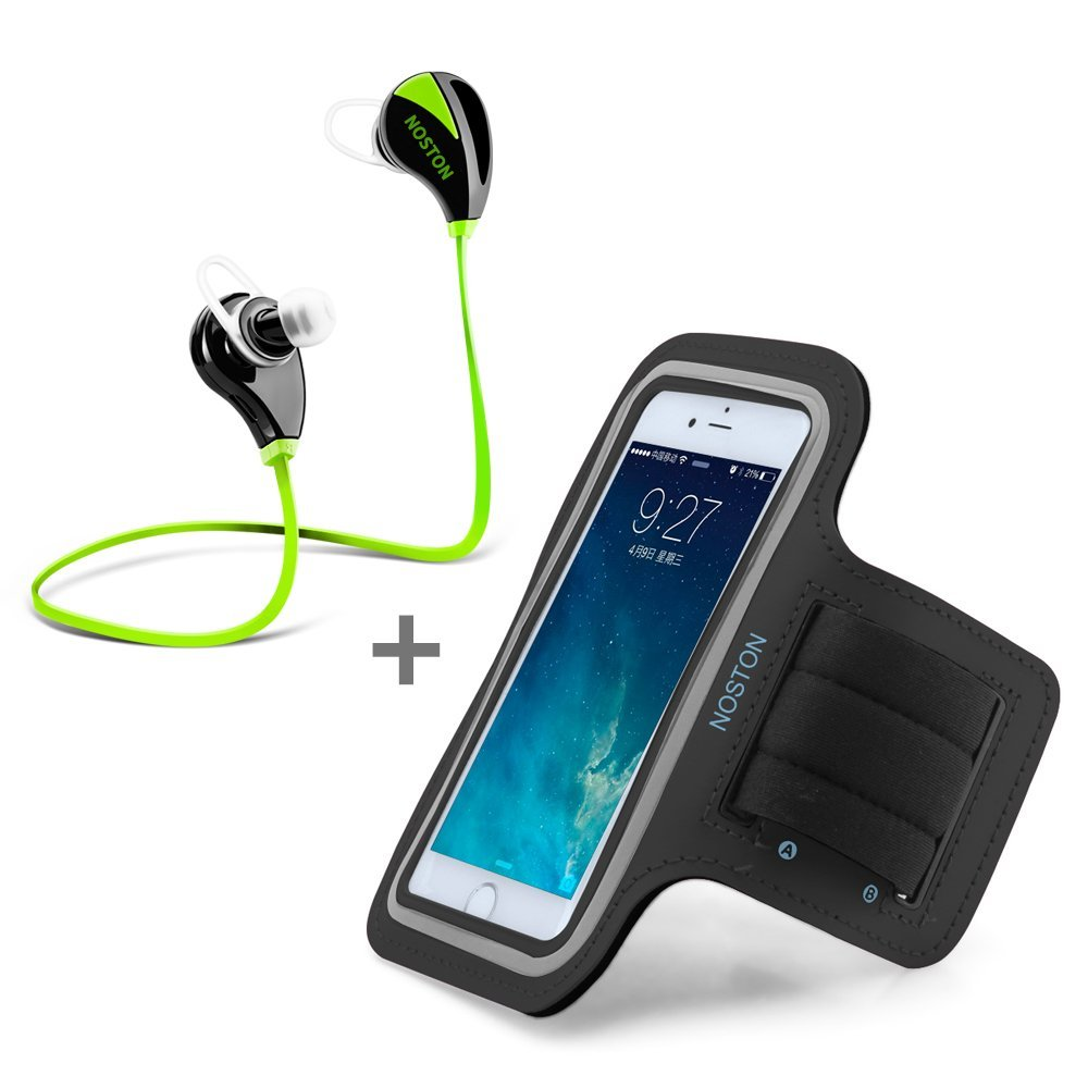 Bluetooth Headphones + Sports Armband Waterproof with Key...
