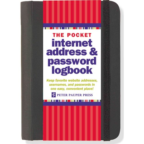 Pocket Internet Address & Password Logbook