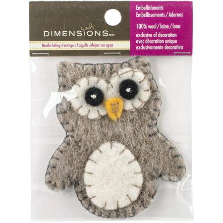 Felt Appliqued Owl- (Stuffed Felt)
