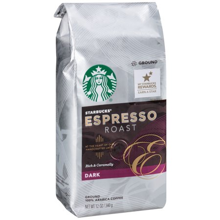Starbucks Espresso Roast Dark Ground Coffee, 12.0 OZ