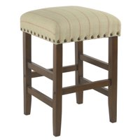 """HomePop 24"""" Open Back Counter stool with nailheads, Multiple Colors"""