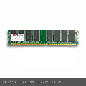HP Inc. 335699-005 equivalent 512MB eRAM Memory DDR PC3200 400MHz 64x64 CL3  2.6v 184 Pin DIMM - DMS
