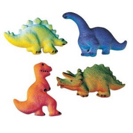 Dinosaur Edible Sugar Cupcake & Cake Decoration Topper-Pack of 16 (Dinosaur Place Coupons)