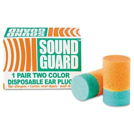 AbilityOne 1376345 6515001376345 Uncorded Ear Plugs - Orange & Green, 200 Pair per Box