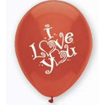American Balloon Company I Love You Balloons 12 Inch Latex Balloons 8 Pack