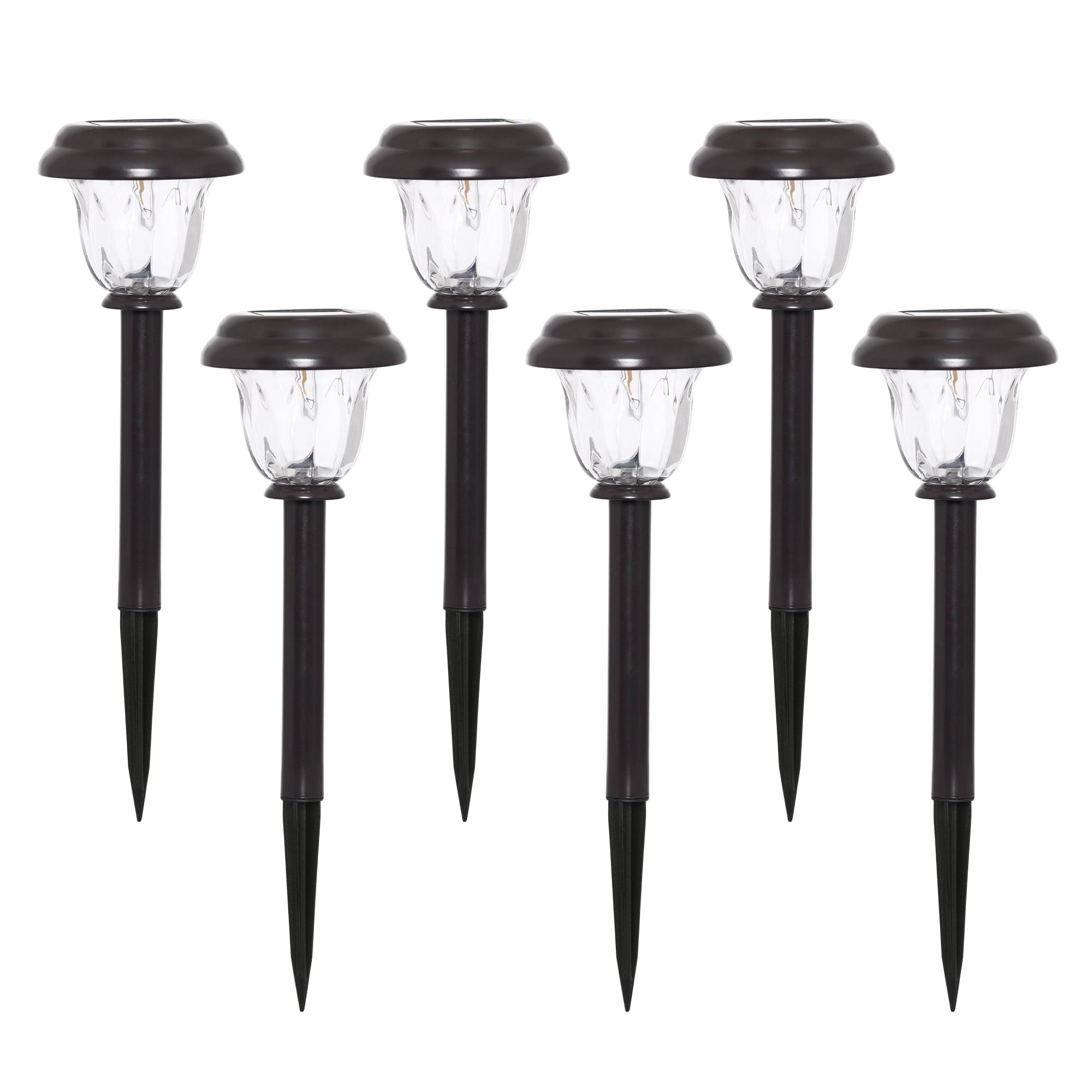 Deluxe Aluminum 6.5 FT Tall Landscape Solar Post Lights 4 LEDs Lamp Traditonal