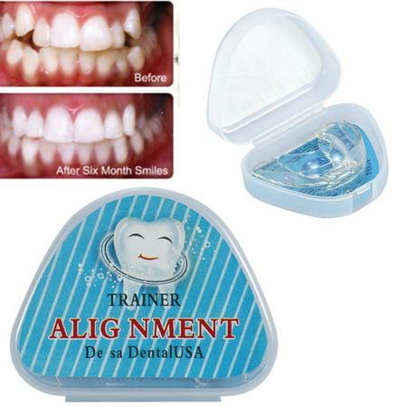 HURRISE Straighten Teeth Tray Retainer Crowded Irregular Teeth Corrector Braces Health Care Tool, Teeth Braces, Teeth (Best Way To Straighten Teeth)