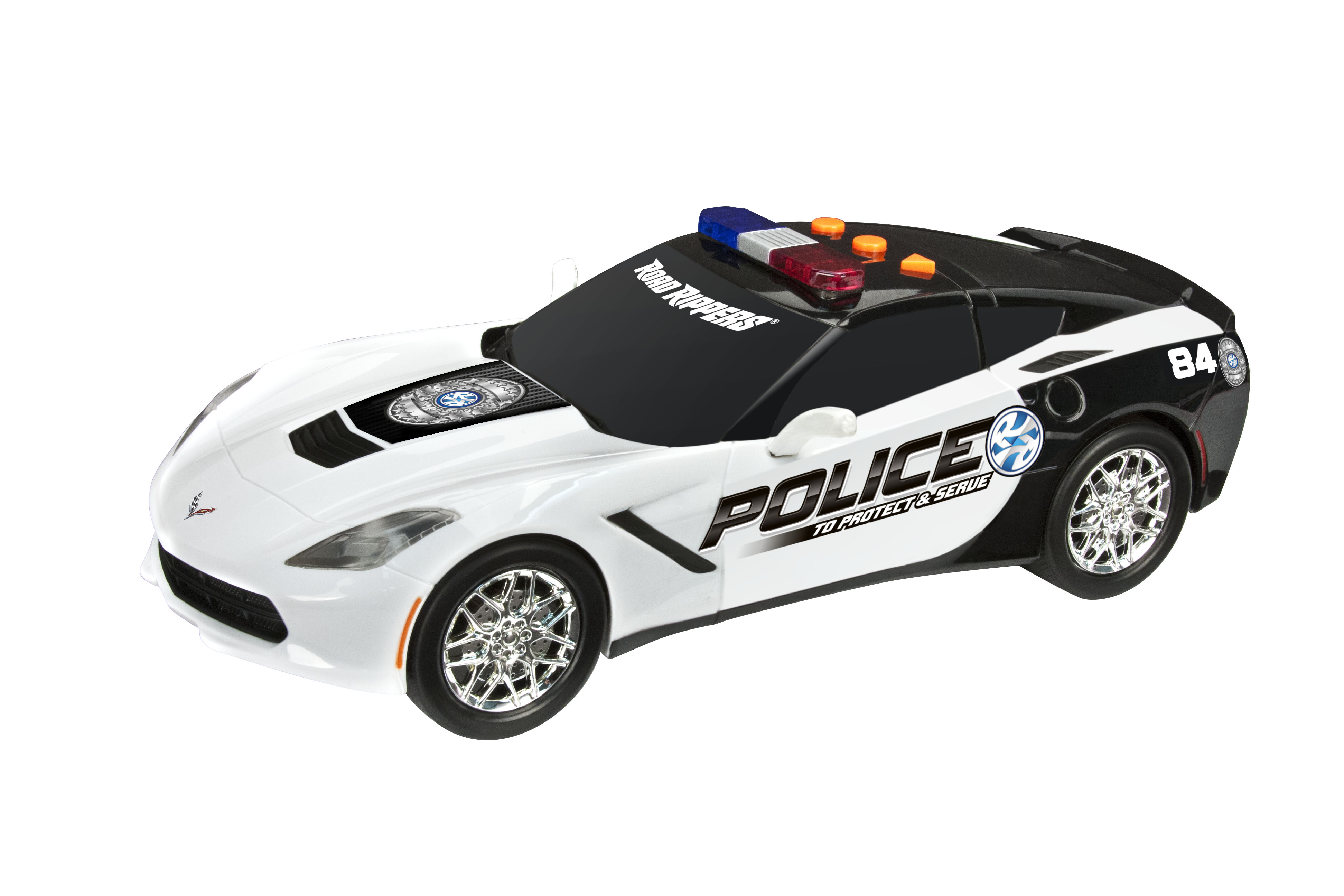 Road Rippers Protect and Serve Chevy Corvette C7 Police Car by Toy State International Limited