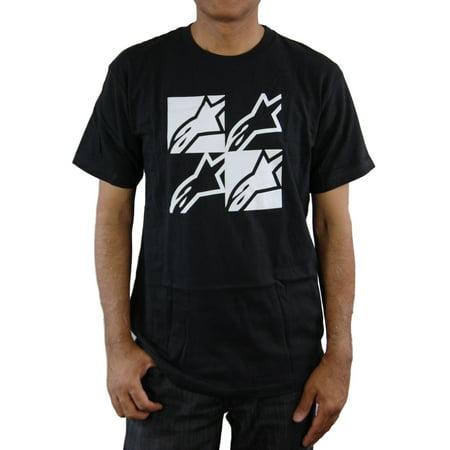 Alpinestars Mens Short Sleeve FOUR SQUARE T-Shirt, -