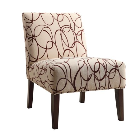 ACME Amber Accent Chair, Fabric & Espresso