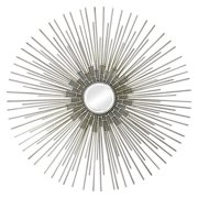Ren-Wil Silver and Gold Wall Mirror - 35 diam.in.