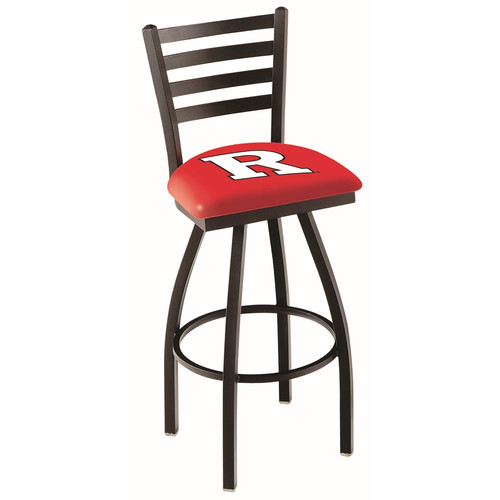NCAA Swivel Stool with Ladder-Style Back by Holland Bar Stool, 25'' - Rutgers