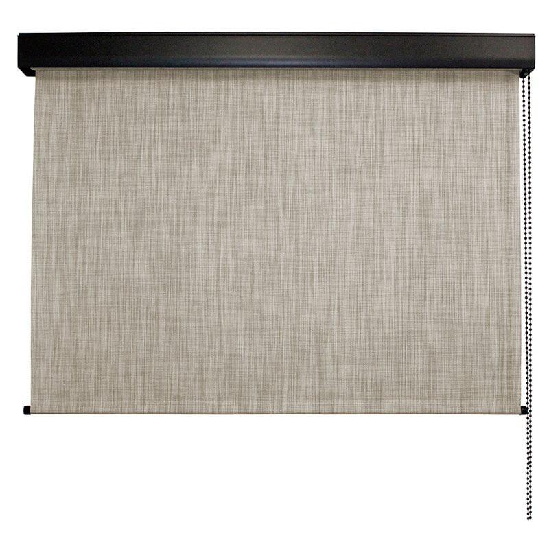 Keystone Fabrics, Valanced, Cord Operated, Outdoor Solar Shade, 8' Wide x 8' Drop, Larkspur