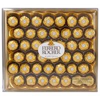 Ferrero Rocher Fine Hazelnut Milk Chocolates, 42 Count, 18.5 oz, Chocolate Candy Gift Box