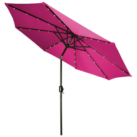 10 Deluxe Umbrella (Deluxe Solar Powered LED Lighted Patio Umbrella - 9' - By Trademark Innovations)