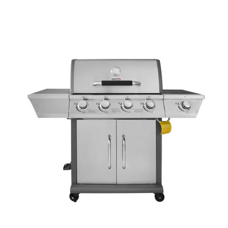 Royal Gourmet GG4302S 4-Burner Gas Grill with Side Burner, Stainless (Rolls Royce Grill)