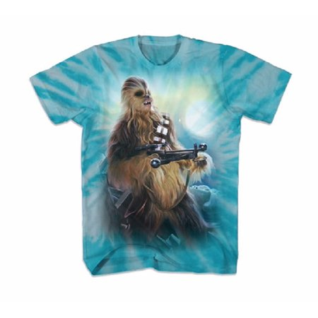 Star Wars Chewbacca Blue Sky Adult T-Shirt